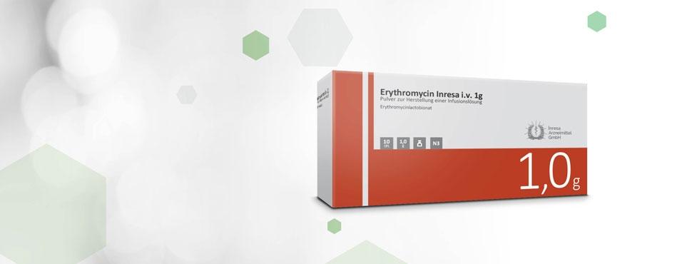 Erythromycin Inresa i.v. 1 g