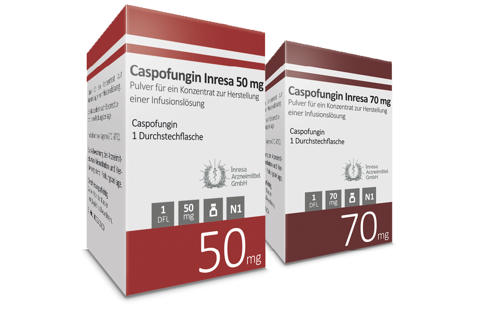Caspofungin Inresa  50 mg & 70 mg