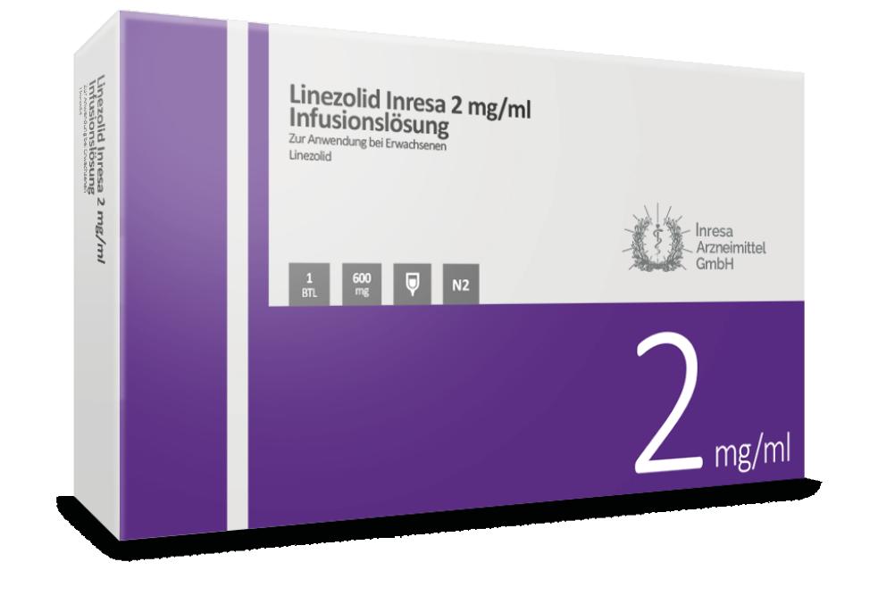 Linezolid Inresa 2 mg/ml Infusionslösung